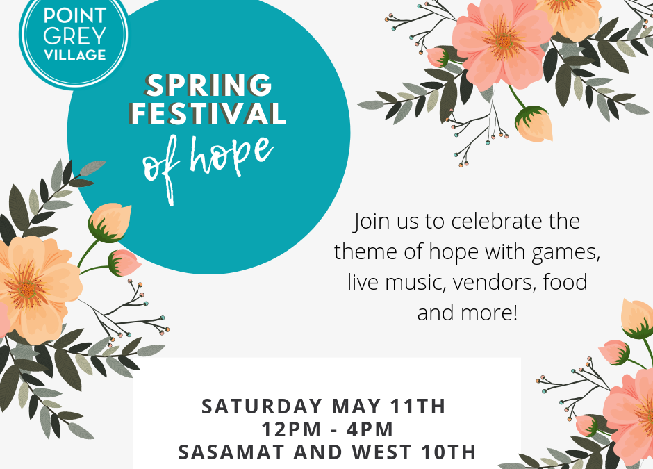 Join Us at The Spring Festival of Hope!