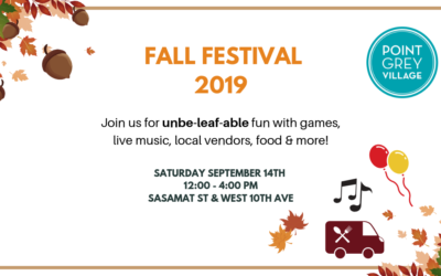 Point Grey Village Fall Festival 2019